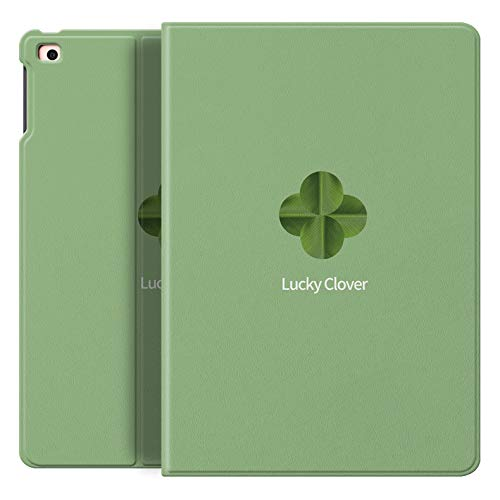 XXIUYHU For iPad2018 Protective Case With Pen Slot For Apple mini5 Tablet Pen Slot air3 Silicone Case 2017 Leather Case a1893   [iPad2018-No Pen Slot] Lucky Leaf