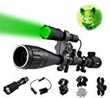 ORION Predator H30 Green 273 Yards Hog Hunting Light Rechargeable Kit, Pressure Switch, 2 Rechargeable Batteries and Charger