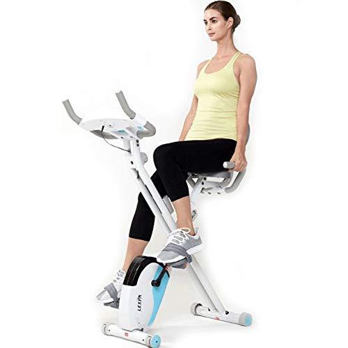 Opvouwbare Hometrainer Met Rugsteun, Hometrainer Voor Cardiotraining Met Dashboard, Verstelbare Zitting/Weerstand