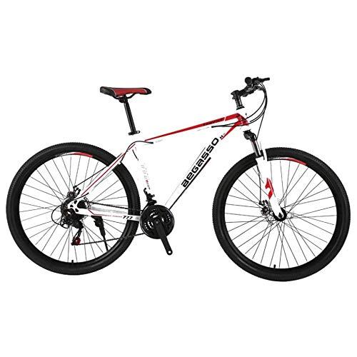Bicicleta De Montaña Para Hombres De 21 Velocidades Freno De Doble Disco 29 Pulgadas Bicicletas Urbanas Todo Terreno Solo Para Adultos Ciclismo Al Aire Libre Suspensión Delantera De Cola Dura,B