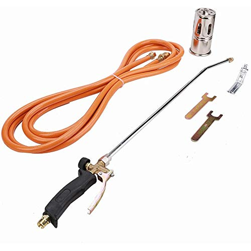 Learn More About AIMCAE Weed Burner Brass Propane Heating Torch Kit for Burn Weeds, Roofing, Heating...