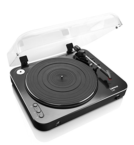 Lenco L-85 Color Negro Tocadiscos con USB
