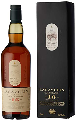 Lagavulin 16 Year Old Single Malt Scotch Whisky with Gift Box, 70cl Spirits Beer, Wine & Spirits