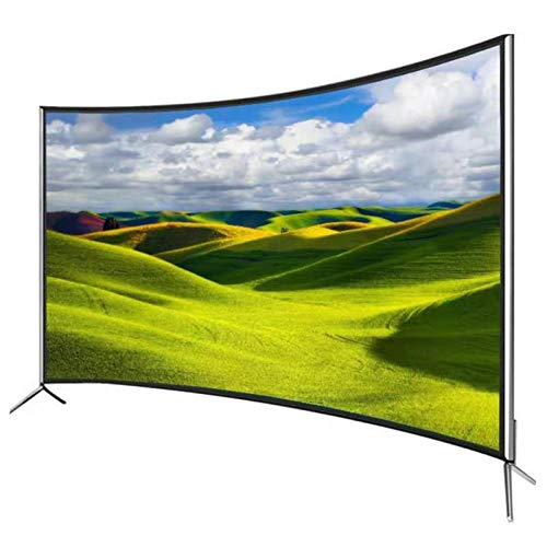 Home appliances Televisor Curvo 4K Ultradelgado, Smart TV LED HDR con WiFi, Cubra La Pantalla De Visualización De Vidrio Templado, Interfaz Externa Rich TV, con Soporte De Pared Dedicado