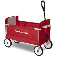 Radio Flyer Folding Wagon for kids and Cargo (Red)