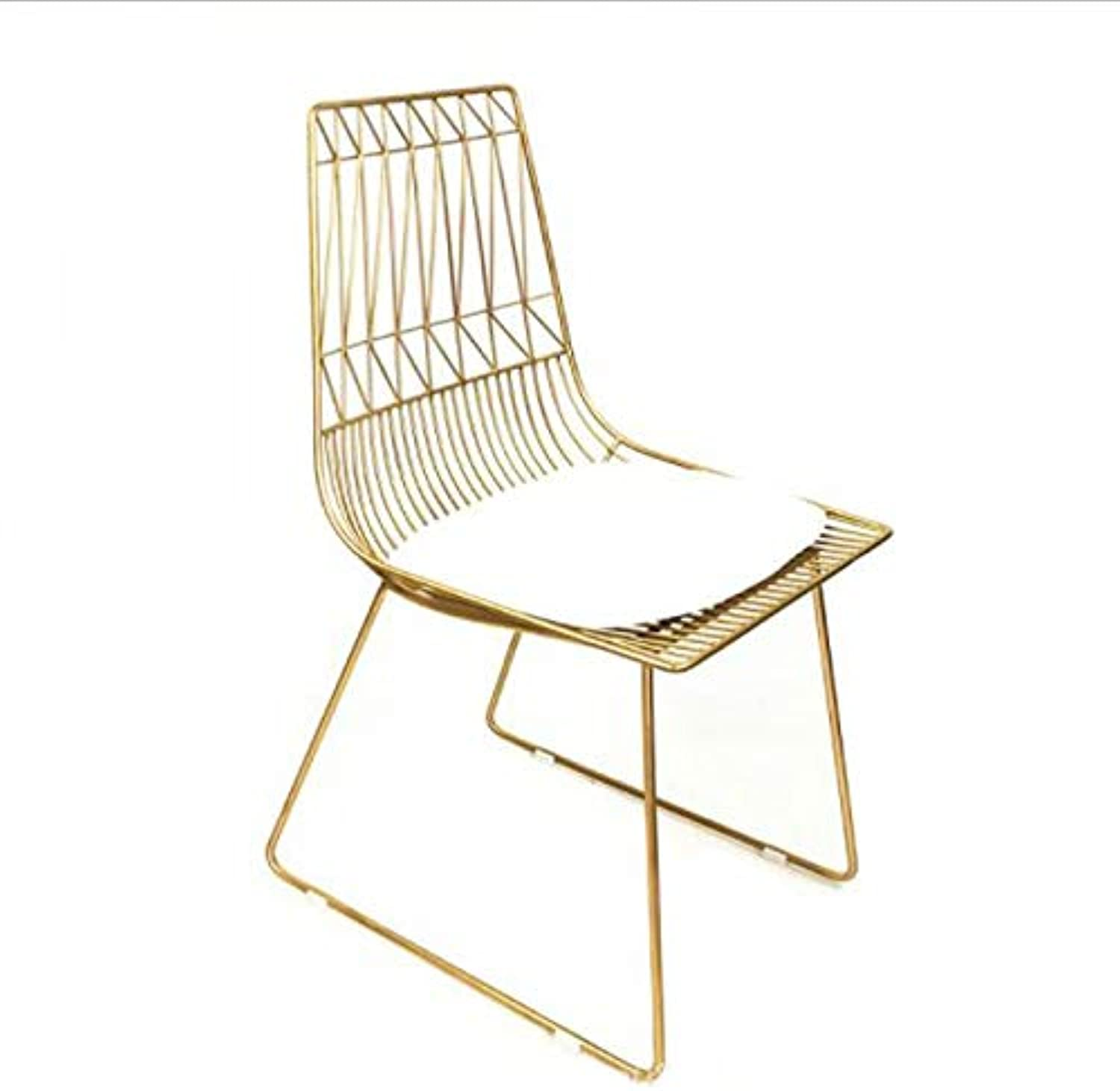 Bar stools High Stool Simple Casual Coffee Beauty Salon Makeup Chair Black, gold, Size  85cm Height Chair (color   gold)
