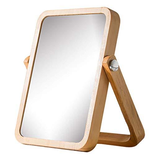 HZJ Miroir de Maquillage de vanité avec la boîte de Rangement Miroir rectangulaire réglable de Table Portable Chrome Poli Fini pour la Chambre à Coucher voyageant