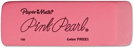3 Count 3-Pack Medium Paper Mate Pink Pearl Erasers