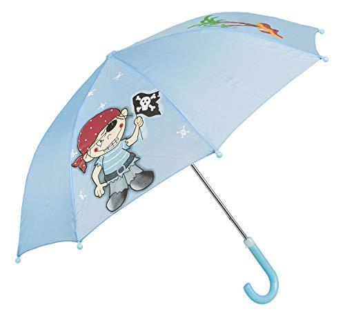 Idena 53089 - Kinderregenschirm für Jungen und Mädchen, ca. 70 cm Durchmesser, Piraten Motiv