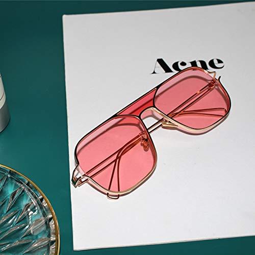 Unisex LIJM OF7209 HD Gepolariseerde UV-bescherming In Twee Kleuren Pilot-style Vierkant Frame Sunglasses (Dark Blue) Lezing (Color : Pink)