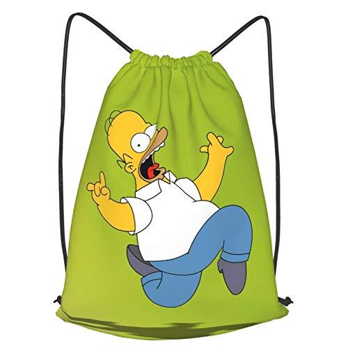 JJKKFG-H Simpson Homer - Mochila con cordón para gimnasio, viajes, dos tamaños M