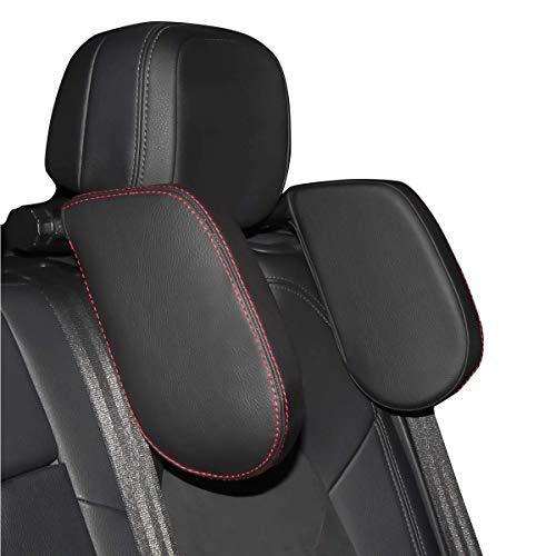 Auto Kopfstütze Nackenstütze, HommyFine Auto Kopfstütze Kinder, montierbares hochklappenbares Kopfkissen Nackkissen für Autositz Unterstützung auf Beiden Seiten ideal für Nachtfahren Schlafen