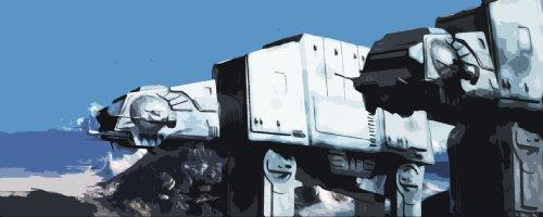 Star Wars L'empire contre-attaque Tableau style Peinture huile \