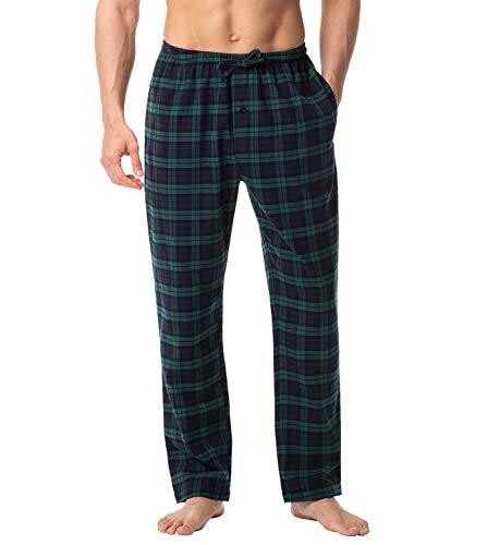 LAPASA PerfectSleep - Pijama de 100% Algodón Franela con Estampado Escocés para Hombre M38/M39