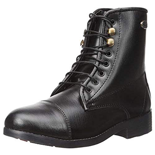 EQUISTAR Children's All-Weather Lace Paddock Boots Black 5