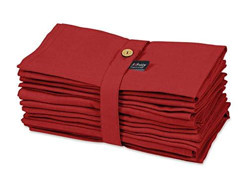 S4Sassy Rot solide Wohnkultur 12 Stück Baumwollserviette Solid Everyday Basic Waschbar Tischwäsche