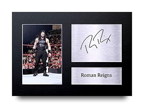 HWC Trading Roman Reigns A4 Ungerahmt Signiert Gedruckt Autogramme Bild Druck-Fotoanzeige Geschenk Für WWE Wrestling-Fans