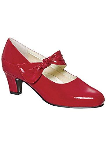 Beacon AmeriMark Women's Sofware Virginia Classic Pumps - Low Heel Ladies Shoes Red Patent 11 Wide US Women