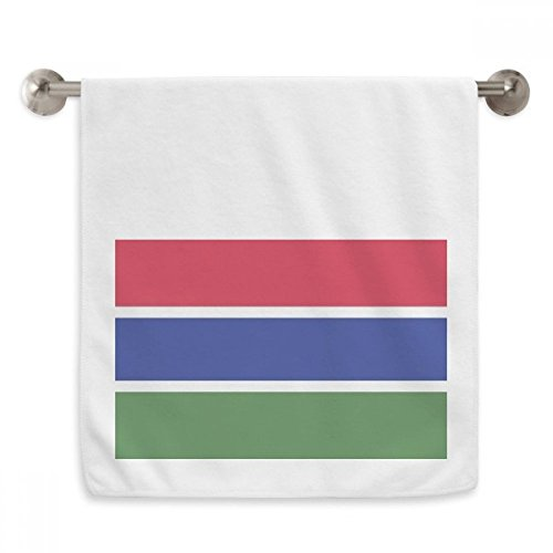 OFFbb la Toalla Gambia Nacional de la Bandera de país de áfrica Circlet Blanca Toallas Suaves paño de 13x29 Pulgadas