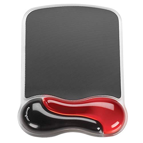 Kensington Duo Gel Mouse Pad with Wrist Rest - Red (K62402AM)