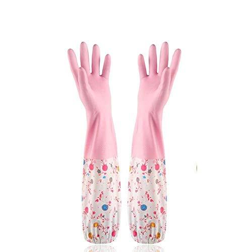 Uno, washandje, vrouwelijk, waskeuken, vaatwasser, siliconen, reiniging, huishouden, lange mouwen, werk, wasstraat, rubber, pulito, Lungo@maat Unica_Pink
