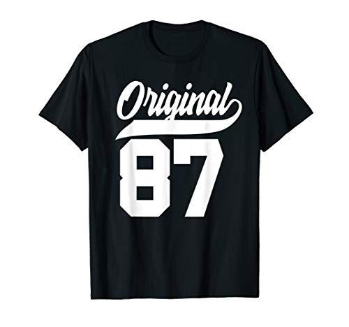 33.Geburtstag Geschenk Mann Frau Original Jahrgang 1987 T-Shirt