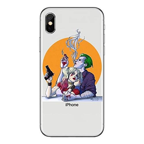Todo Fundas Compatible con iPhone, Superheroes DC Comic Spiderman Joker Escuadron Suicida Venom Harley Quinn Manga Anime Dibujos Niños Gel Silicona (iPhone 7 Plus / 8 Plus, 1)