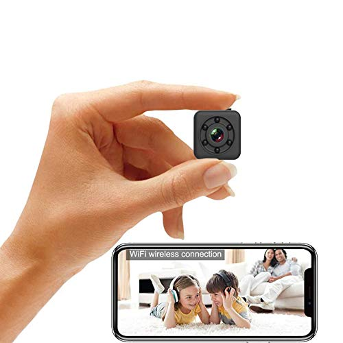 Mini Spy Camera 1080P Full HD Hidden Camera via Wireless WiFi Connection and App Control, Cop Cam with Audio and Video Magnetic Waterproof Night Vision Motion Detective for Indoor and Outdoor