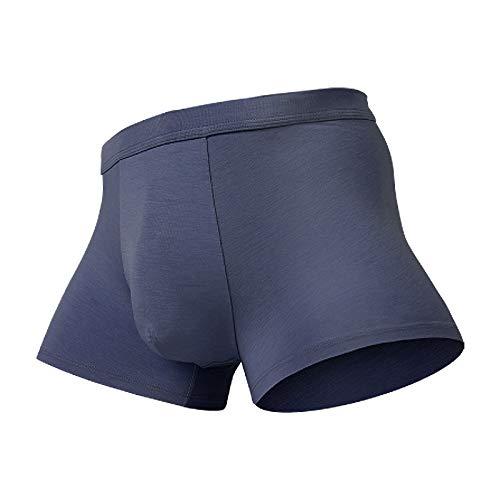 YUHUALI sous-vêtement pour Hommes sans Couture Silkworm Boxer Respirant Respirant Boxer Bleu L