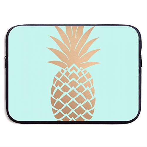 Gold Pineapple 13-15 Inch Laptop Sleeve Bag Portable Water Resistant Computer Liner Laptop Case Notebook Cover