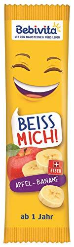 Bebivita Früchte-Riegel BEISS MICH! Apfel-Banane, 20er Pack (20 x 25 g)