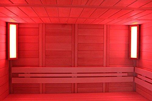 LED Farblichtgerät Saunaleuchte Saunabeleuchtung RGB Lumina S (helle Espe) …