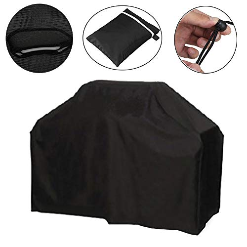 YYQIANG Outdoor Patio Fire Pit Cover with Storage Bag, 210D Oxford Cloth Furniture Dustproof Cover for Garden, Black (Size : 190X71X117CM)