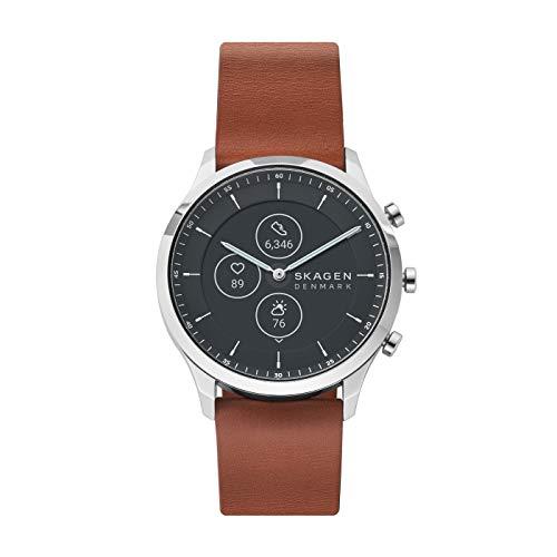 SKAGEN Smartwatch HR Híbrido para Hombre con Correa en Cuero SKT3000, Marrón