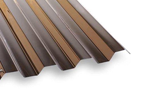 Unbekannt PVC Lichtwellplatte Profilplatte Bronze Trapez K70/18 B1092 x L2000 mm
