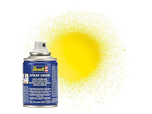 Revell 34112 Spraydose gelb, glänzend Spray Color, Farben in der praktischen 100-ml-Sprühdose