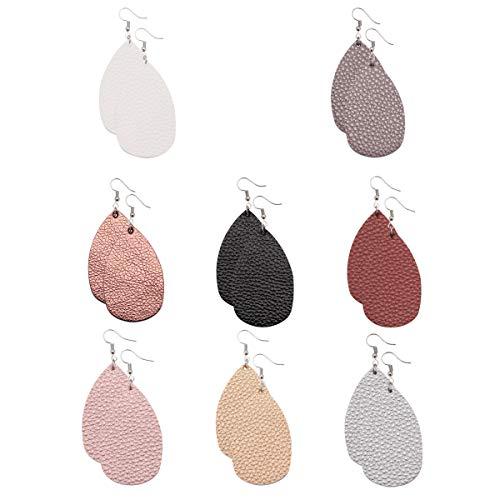 Leather Earrings Lightweight Fau...