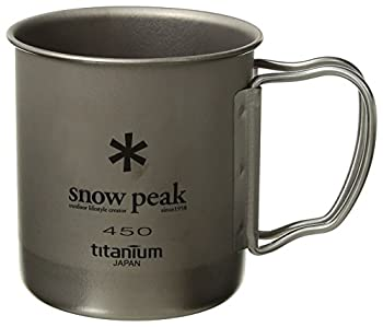 Snow Peak Titanium Single Wall Cup 450 Folding Handle 2014 vaisselle