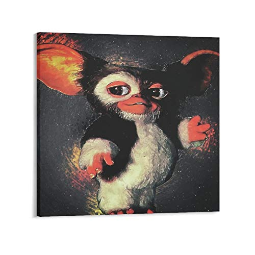 YANGNA 3-Gremlins Movie Gizmo Print Photo Art Painting Canvas Poster Home Decorative Bedroom Modern Decor Posters Gifts 20×20inch(50×50cm)