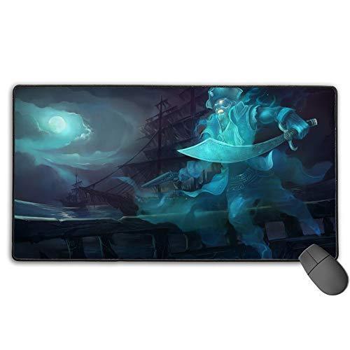 Alfombrilla de ratón extra extendida grande para gaming, diseño personalizado de League Legends, 30 cm x 80 cm
