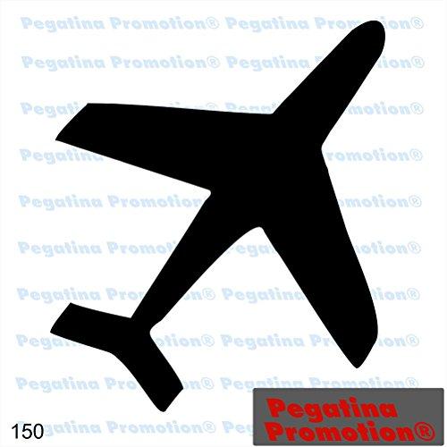 Piktogramm Typ 150 Icon Symbol Zeichen Flugzeug Flieger Flugplatz Aufkleber Sticker ca.15cm von Pegatina Promotion® Aufkleber mit Verklebehilfe von Pegatina Promotion® ohne Hintergrund geplottet