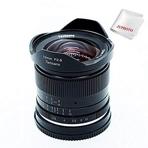 7artisans 12mm F2.8 APS-C Manuelle Objektiv für Sony E-Mount Kameras sowie Sony NEX-6R NEX-7 A3000 A5000 A5100 A6000 A6300 A6500 mit JYPHOTO Tuch