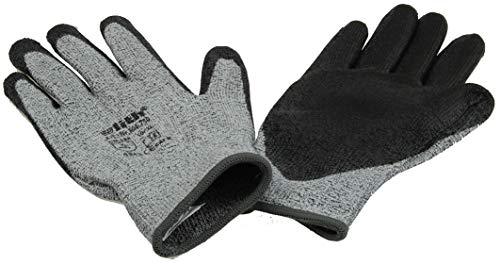 ebyreo Schnittschutz Handschuh | Schutzklasse 5 grau/schwarz | EN38 EN 4208 Schnittschutzhandschuhe | Arbeitshandschuhe Handwerk Garten | Anti-Schneide-Schutz (1 Paar, Größe 11)