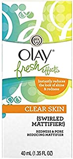 Olay Fresh Effects Clear Skin Redness and Pore Reducing Swirled Mattifier, 1.35 Ounce
