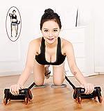 Samule Bauchtrainer Abdominal Roller, Multifunktions-Bauchmuskeltrainer mit AB-Rädern, Ab-Roller,...
