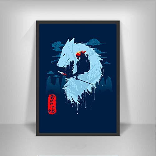 lubenwei Princess Mononoke Movie Japan Anime Posters and Prints Painting Art Canvas Wall Pictures Home Decor quadro cuadros 40x50cm No frame AW-1512