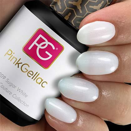 Pink Gellac UV Nagellack 209 Sugar White. Professionelle Gel Nagellack shellac für mindestens 14 Tage perfekt glänzende Nägel