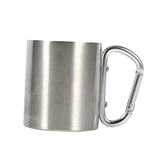 Fablcrew 2Pcs 300ml INOX Caf/é Tasse Mug Bi/ère Eau Portable Potable Double Paroi en Acier Inoxydable pour Enfants ou Camping Pique-Nique Voyage