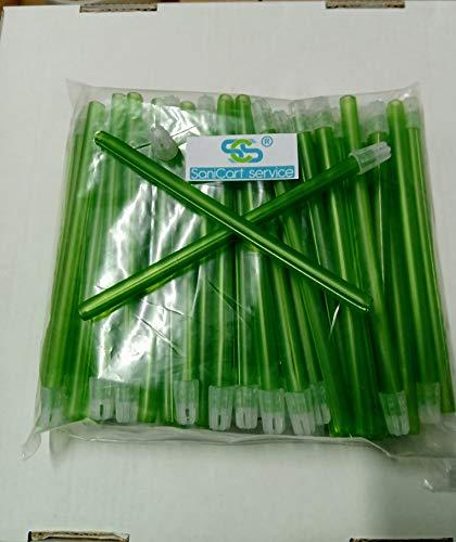 Aspirasaliva verde flexible con hilo cobrizo tapa filtro extraíble para dentista medida 12,5 unidades 100 pcs