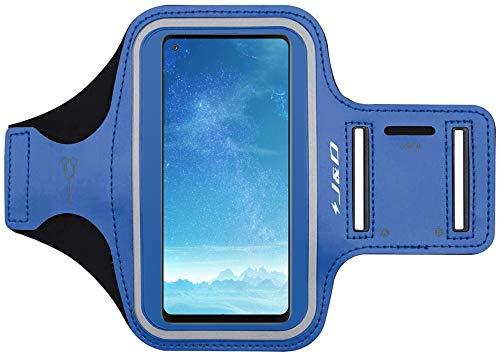 J&D Compatible para Samsung Galaxy A82 5G/A72/A42 5G/A22 5G/A52 5G/A51/A71 5G/A32 5G/A02s/A31/A21s/A21/A12 Brazalete Deportivo para Correr, Ranura para Llaves, Conexión con Auriculares